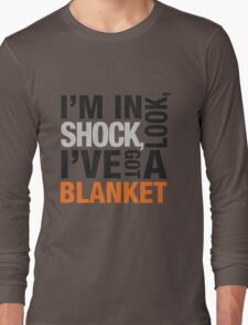 Sherlock blanket quote typography Long Sleeve T-Shirt
