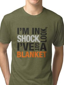 Sherlock blanket quote typography Tri-blend T-Shirt