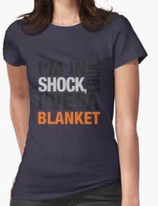 Sherlock blanket quote typography Womens Fitted T-Shirt