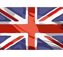 Union Jack - British Flag (block - modern art design) Photographic Print