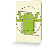Vitruvian Android Greeting Card
