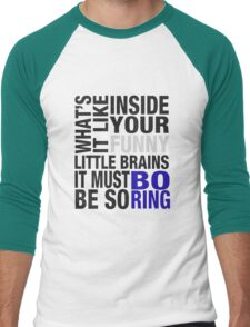 Sherlock quote typography Men's Baseball ¾ T-Shirt