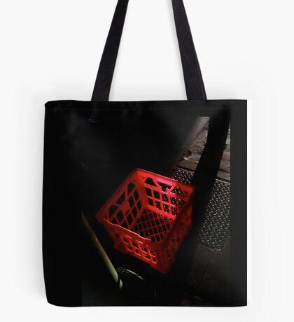 Red Milk Crate Tote Bag