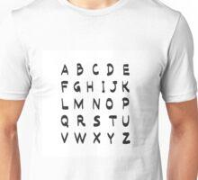 Alphabet creative print black on white Unisex T-Shirt