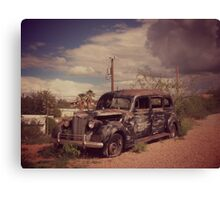 Dusty Old Hearse Canvas Print