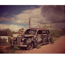 Dusty Old Hearse Photographic Print