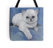 Himalayan Kitten: Original Pastel Painting Tote Bag