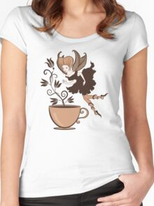 Coffee fairy Women's Fitted Scoop T-Shirt