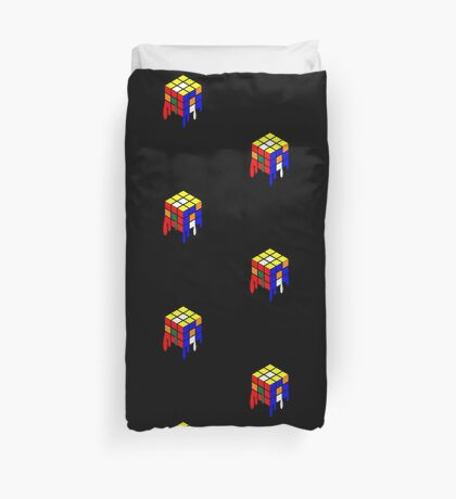 Dripping Cube Duvet Cover