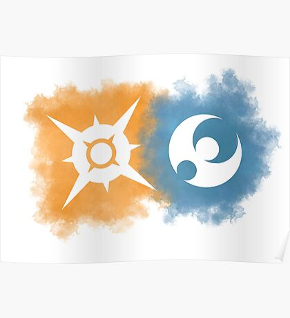 Pokemon Sun and Moon logos Poster