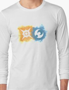 Pokemon Sun and Moon logos Long Sleeve T-Shirt