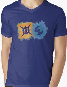 Pokemon Sun and Moon logos Mens V-Neck T-Shirt