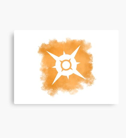 Pokemon Sun logo Canvas Print