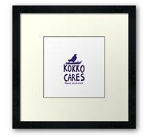 Kokko cares! V. 2 Framed Print