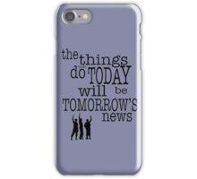 Tomorrow's News iPhone Case/Skin