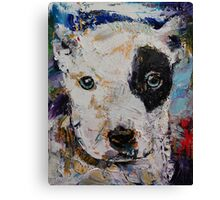 Pit Bull Puppy Canvas Print