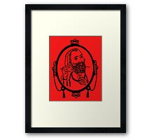 ZIG - ZAG MAN (black) Framed Print