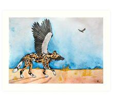 African Simurgh - AWD/Secretary bird Art Print