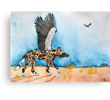 African Simurgh - AWD/Secretary bird Canvas Print