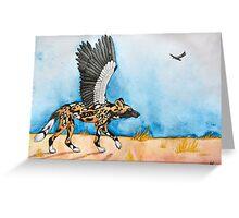 African Simurgh - AWD/Secretary bird Greeting Card