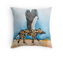 African Simurgh - AWD/Secretary bird Throw Pillow