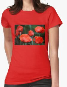 Where Poppies Grow Womens Fitted T-Shirt