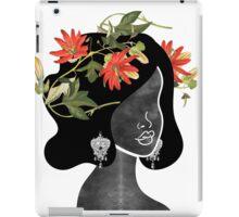Wildflower Crown Silhouette iPad Case/Skin
