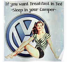 Breakfast in bed Poster