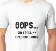 Eye Roll Unisex T-Shirt