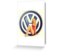 Retro VW Chick Greeting Card