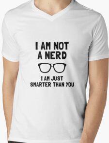 Not A Nerd Mens V-Neck T-Shirt