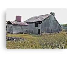 """""""Nostalgic Old Barn, the Back Side""""... prints and products Canvas Print"""