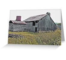"""""""Nostalgic Old Barn, the Back Side""""... prints and products Greeting Card"""