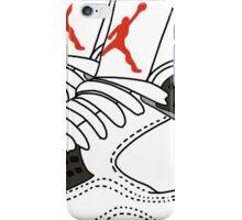 jordans illustration iPhone Case/Skin