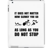 Slowly Go Triathlon iPad Case/Skin