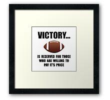 Victory Football Framed Print
