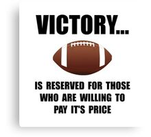 Victory Football Canvas Print