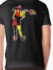 JOKER, Joke, Jokerman, Fool, cards, gamble, wild card, trump card for Euchre Mens V-Neck T-Shirt