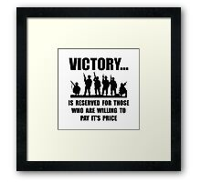 Victory Military Framed Print