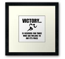 Victory Runner Framed Print