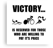 Victory Triathlon Canvas Print