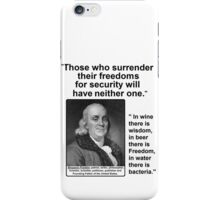 Ben Franklin Double Quote iPhone Case/Skin