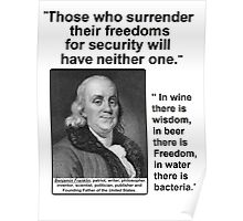 Ben Franklin Double Quote Poster