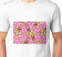 Tropical Tiger And Hibiscus Floral Print Unisex T-Shirt