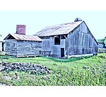 """Nostalgic Old Barn, the Back Side  (Pastelized)""... prints and products Photographic Print"