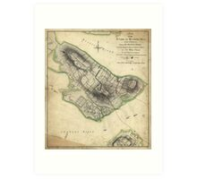 Bunkers Hill Revolutionary War Map (June 17, 1775) Art Print