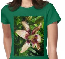 Salmon Pink lily Womens Fitted T-Shirt