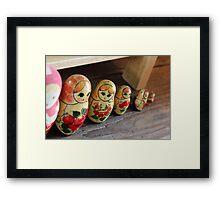 The Cheeky Nesting Doll Framed Print