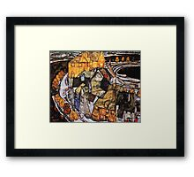 Egon Schiele Abstract Town Framed Print