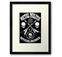 Metal Militia Framed Print